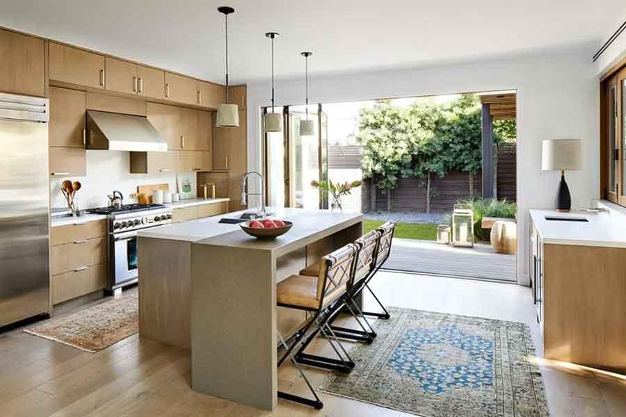 ide dekorasi untuk dapur terbuka belakang rumah kamu