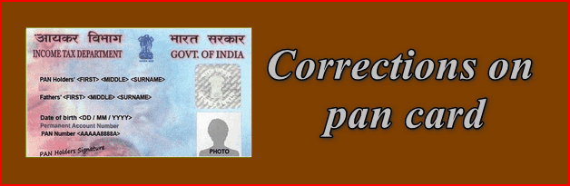 Corrections on pan card
