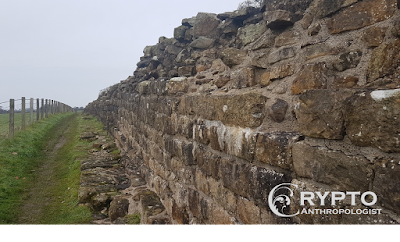 Hadrian's wall at Willowford - roman ruins in Britain