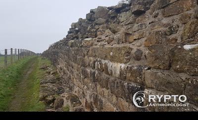 Hadrian's wall at Willowford - roman ruins in Britain