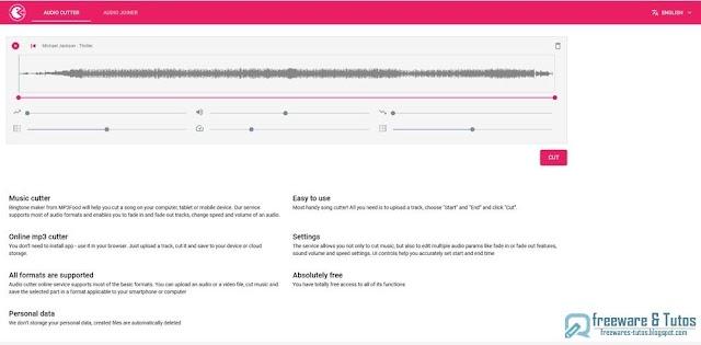 Mp3Food : un outil en ligne pour couper et joindre les fichiers audio