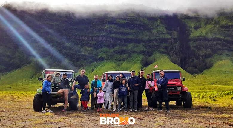 sejumlah 739 pengunjung bromo diperkenankan masuk kawasan di beberapa spot wisata gunung bromo