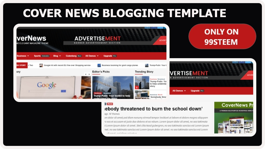 Cover News blogger Template