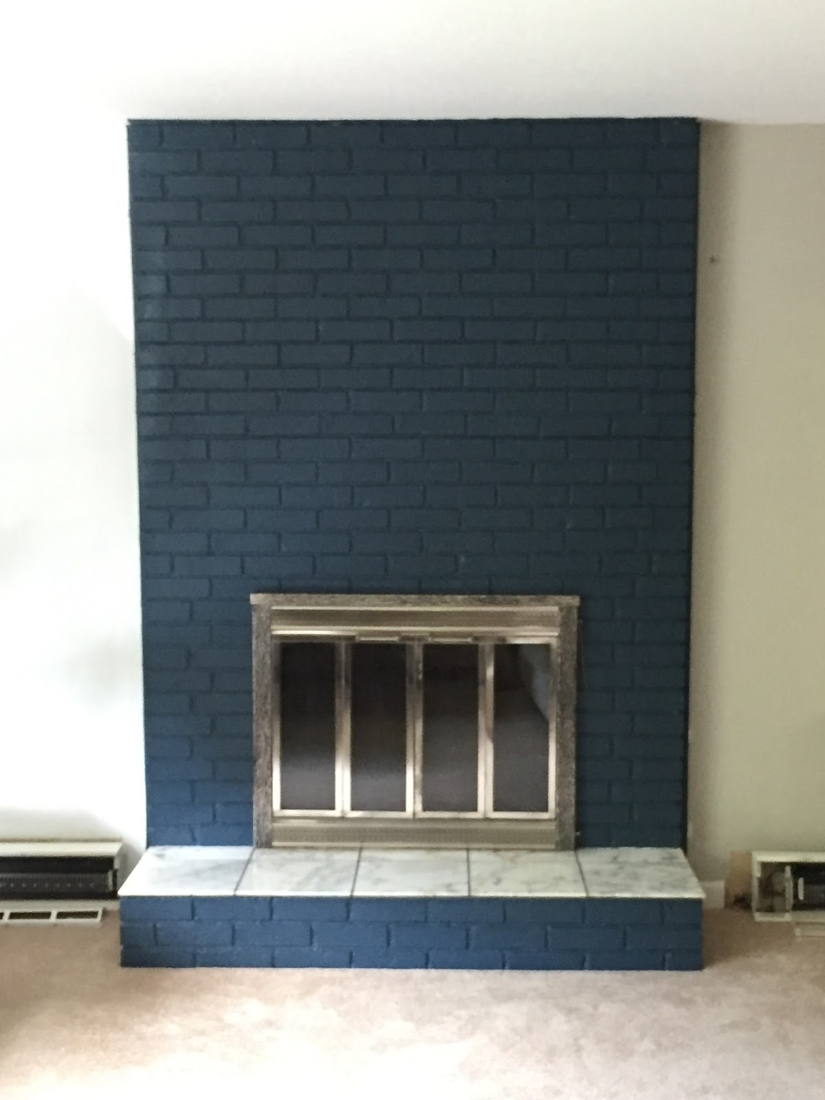 drew danielle design what to do with your boring brick fireplace