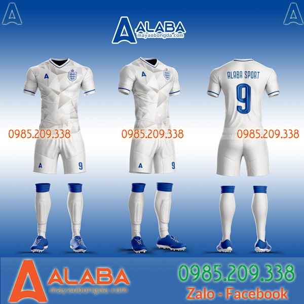 Áo đội tuyển Anh màu trắng tự thiết kế