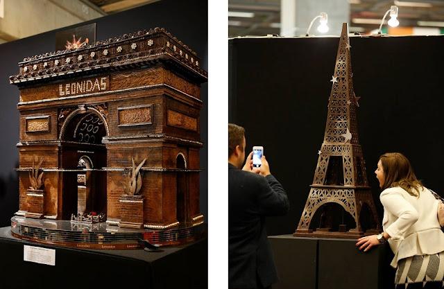 Łuk Triumfalny i Wieża Eiffela z czekolady