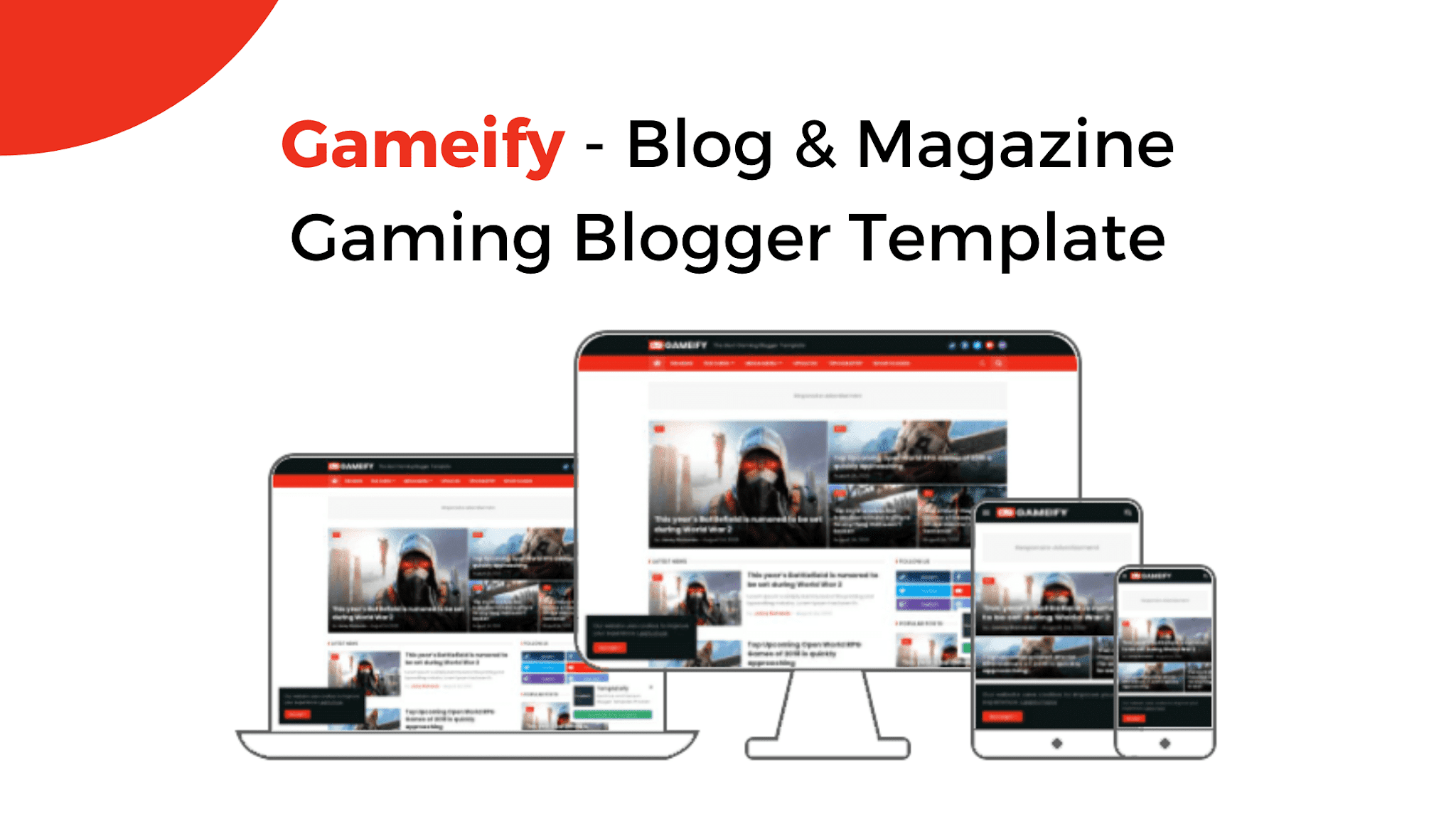 Gameify - Blog & Magazine Gaming Blogger Template