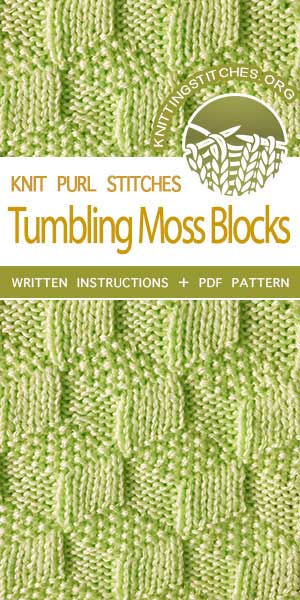 Knitting Stitches -- Knitting Square Patterns. Reversible Knitting. It would be a great stitch choice for  blankets, shawls, scarves and hats!