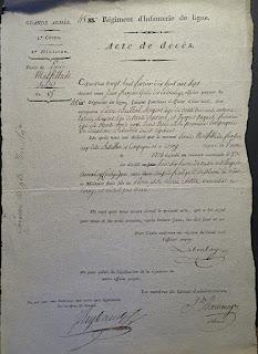 acte décès Louis Pierre Malfilâtre 27 février 1807 archives mairie Corny 27