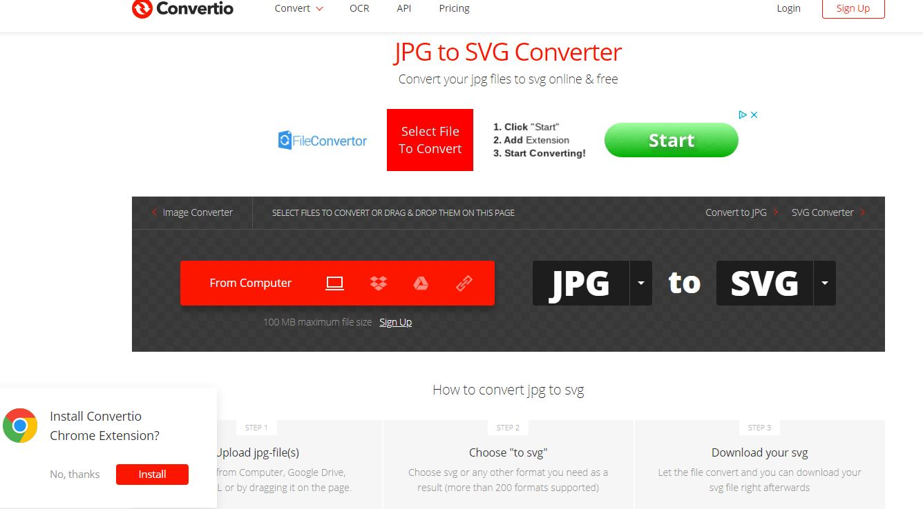 Comparing Programs Sites For Converting Images To Svg