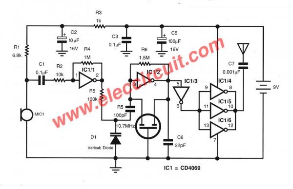 circuit diagram fm transmitter without coil using varicap