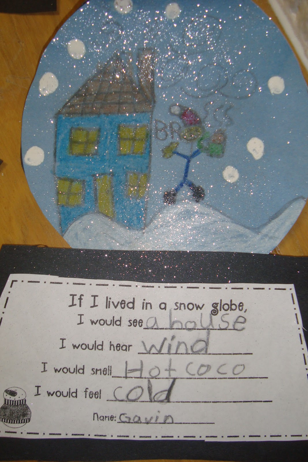 Trapped in a snow globe writing activity for middle school
