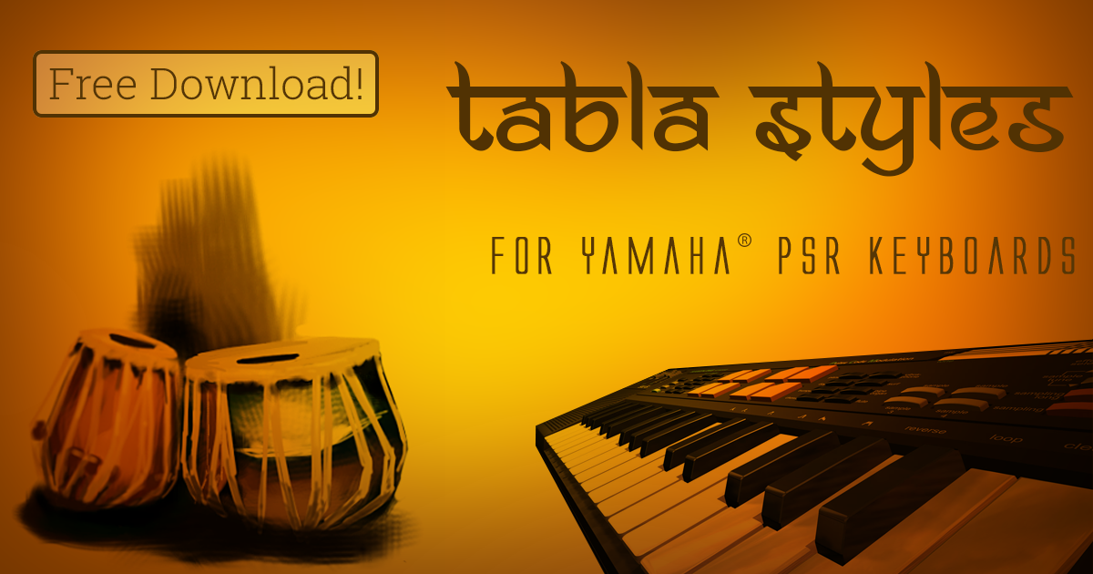 Tabla styles for Yamaha PSR keyboards | Anselm and Anselm