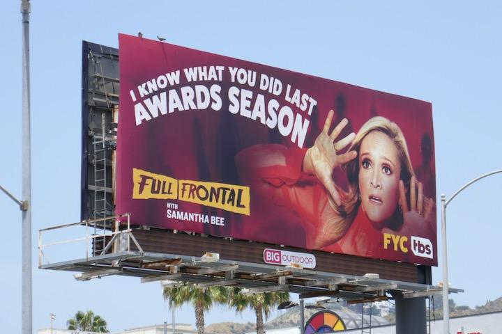 Samantha Bee 2020 Emmy FYC billboard