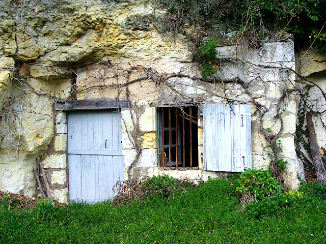 Troglodyte dwelling.  Indre et Loire, France. Photographed by Susan Walter. Tour the Loire Valley with a classic car and a private guide.