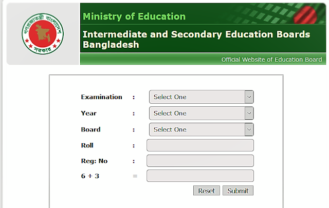 SSC result 2020 with marksheet