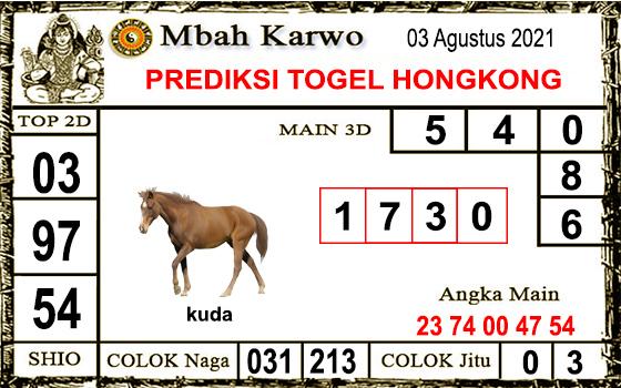 Prediksi Mbah Karwo Hk Selasa 03 Agustus 2021