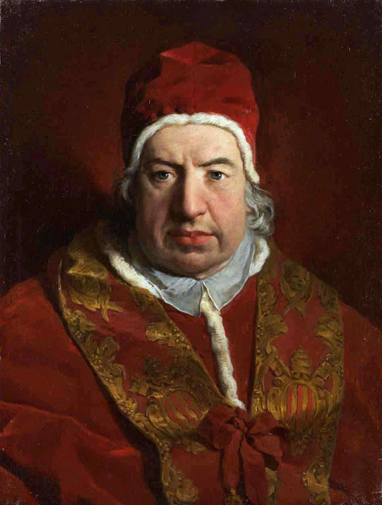 O Papa Bento XIV quando Cardeal definiu os 7 critérios para caracterizar o milagre. Pierre Subleyras (1699 – 1749), Metropolitan Museum of Art