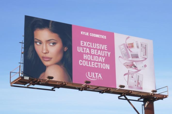 Kylie Cosmetics Ulta Beauty Holiday 2019 billboard
