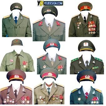 Mẩu áo quân phục ghép ảnh photoshop 01