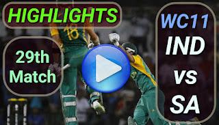 IND vs SA 29th Match