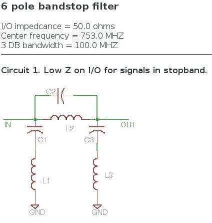Antenna Handbook : 4G LTE Bandstop Antenna UHF Filter 703 MHz - 803 MHz
