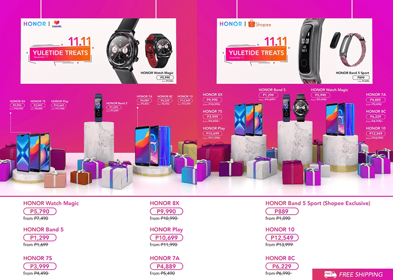 HONOR joins 11.11 craze at Shopee and Lazada