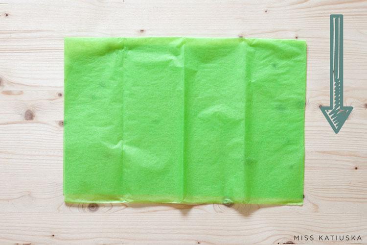 paso 1 diy guirnalda papel seda