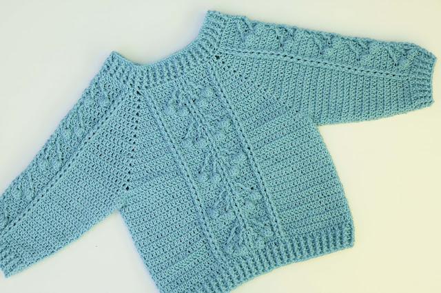 2-Crochet Imagen Jersey con punto relieve especial invierno por Majovel Crochet