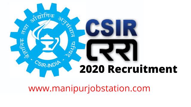 CISR Chennai 2020 Recruitment
