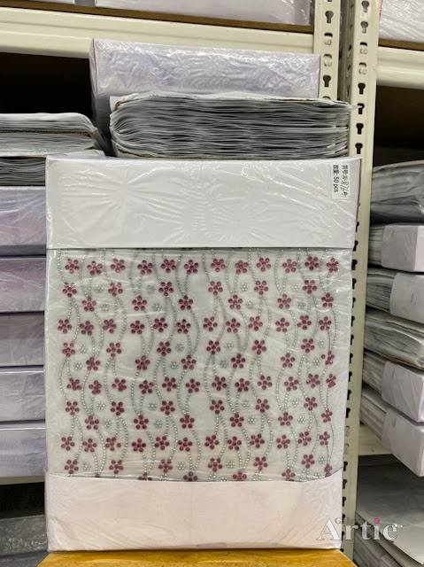 Hotfix stickers dmc rhinestone aplikasi tudung bawal fabrik pakaian bunga kecil berwarna