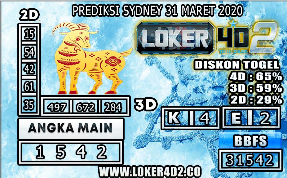 PREDIKSI TOGEL SYDNEY LOKER4D2 31 MARET 2020