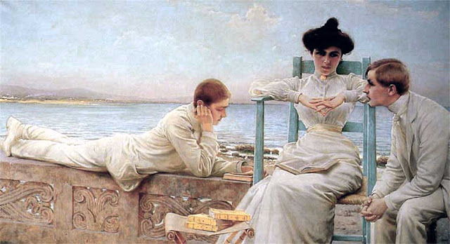 Reading by the Sea by Vittorio Matteo Corcos