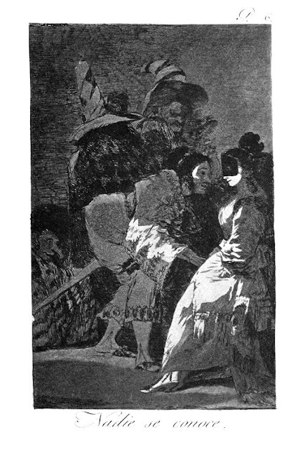 Goya Los Caprichos - Nadie se conoce / Nobody knows himself