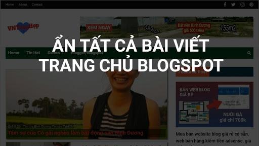 Cách ẩn bài viết mới nhất ngoài trang chủ blogspot recent posts