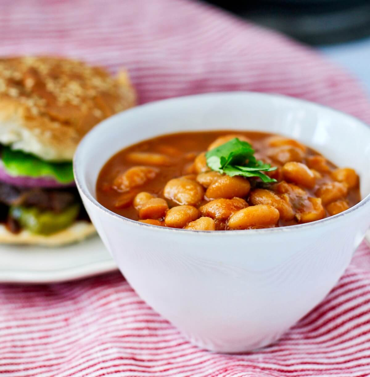 Barbecue Baked Beans in the Slow Cooker