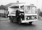 Photograph of Stan, the Express Dairies roundsman in Skimpans Close October 1968 Image from Ron Kingdon, part of the Images of North Mymms collection