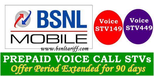 BSNL Kerala telecom circle voice calling stvs 149 and 449