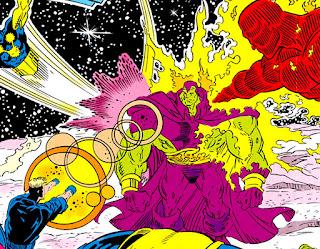 Drax contra la Antorcha Humana, Kaos y Nova