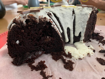 Gluten Free Chocolate Fudge Bundt Cake Inside