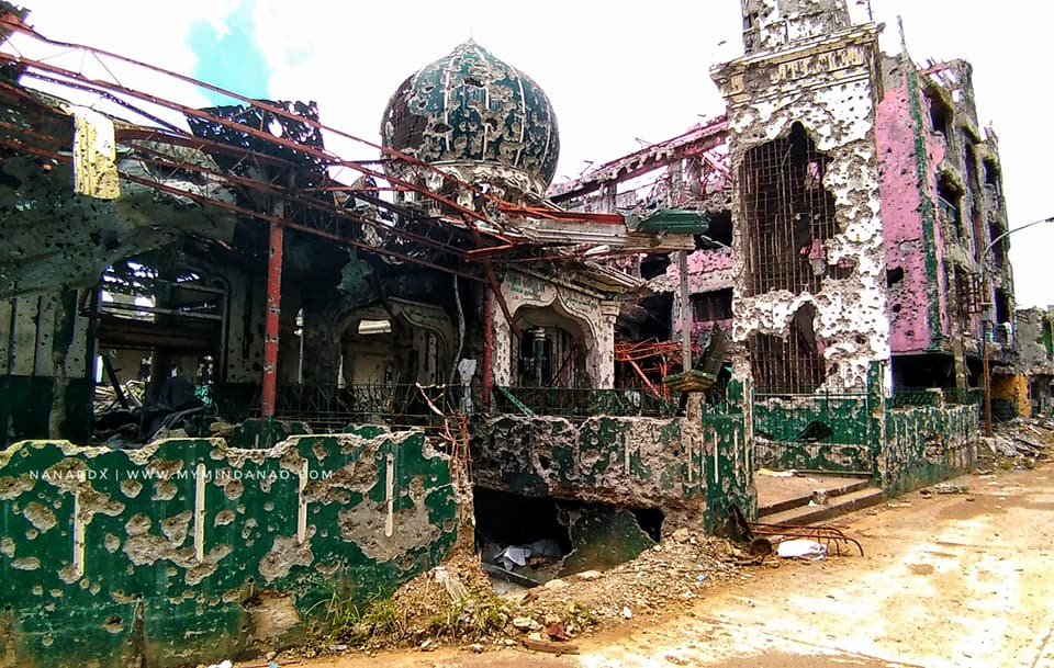 Completely destroyed. The historic Bato Mosque.