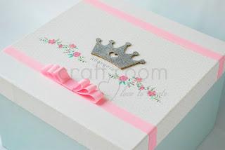 κουτι-ρουχων-βαπτισης-κοριτσι-πριγκιπισσα-κορωνα-λουλουδια-ρομαντικο-χαρτινο