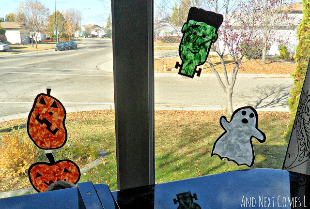 Halloween suncatchers the kids can make