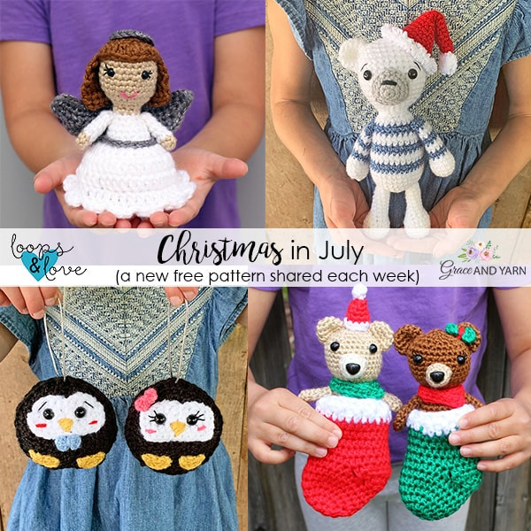 Christmas In July 2020   Free Crochet Patterns   Grace and Yarn