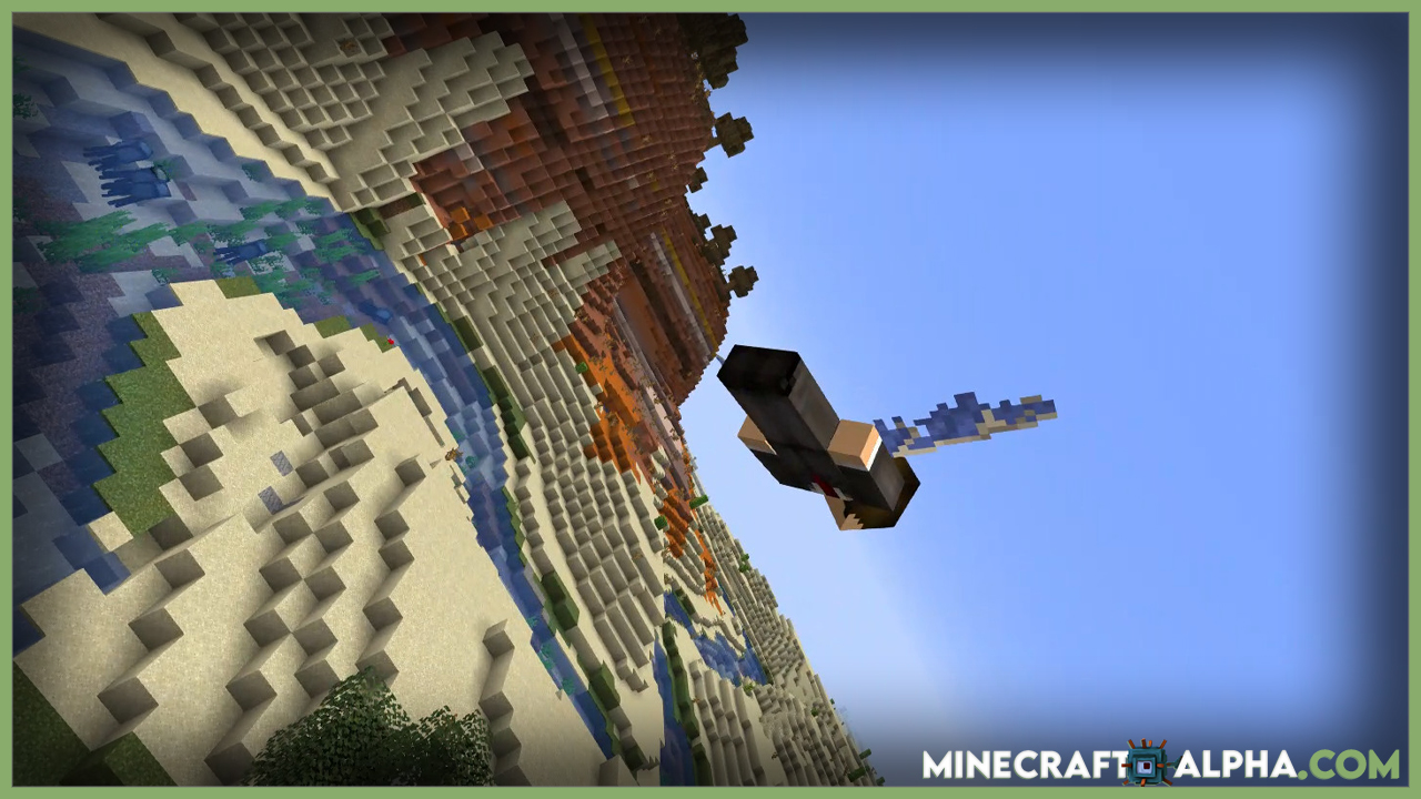 Cool Elytra Roll Mod 1.17.1/1.16.5 (Realistic Camera Angle for Elytra)
