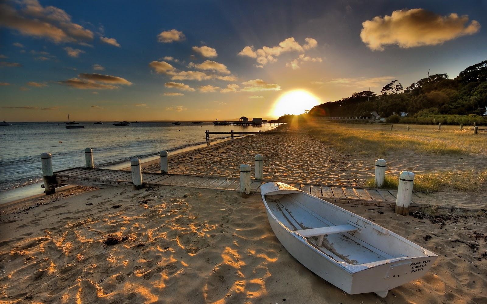Hd wallpapers desktop wallpapers 1080p beach boat - Beach hd wallpapers 1080p ...