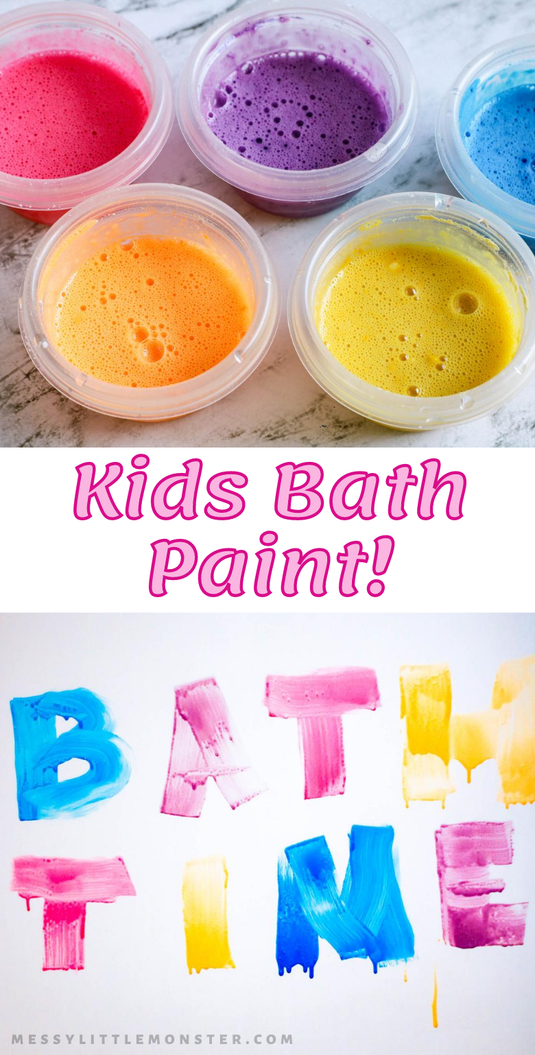 Homemade kids bath paint recipe