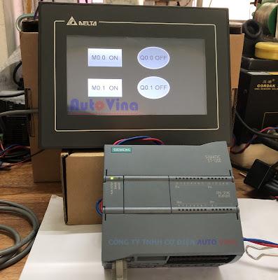 Lập trình màn hình HMI Delta DOP-107EV kết nối PLC S7-1200 qua Ethernet