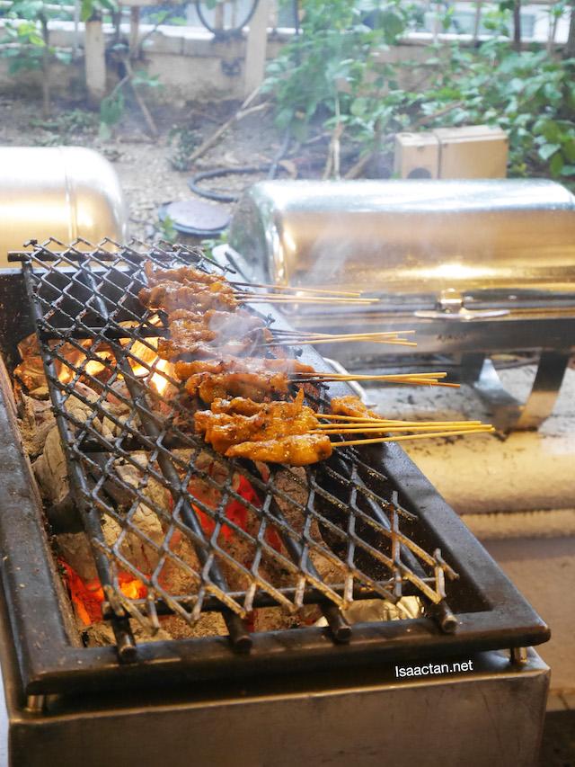 Love it when they prepare Satay on the spot