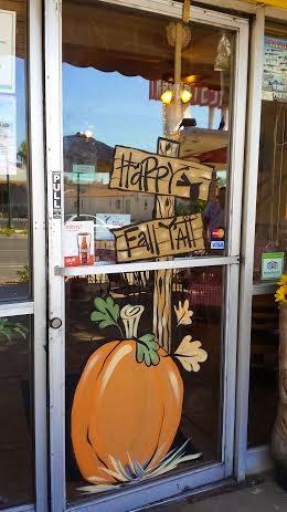 Twiddlebugz Designz Pumpkin window painting